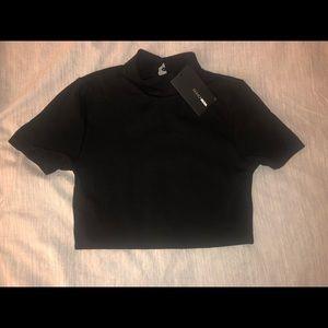 Black crop top